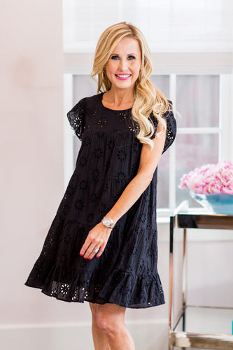 Lacey Dress- Black
