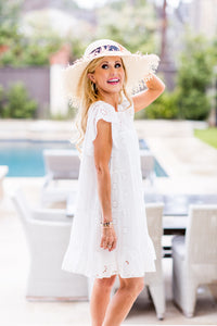 Lacey Dress- White
