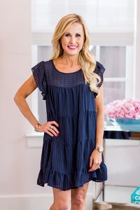 Leah Dress- Navy
