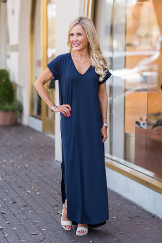 Gloria Dress- Navy
