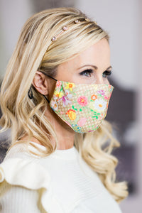 """Gucci""  Floral Mask"