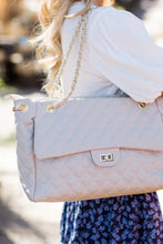 Quilted Shopper- Ivory