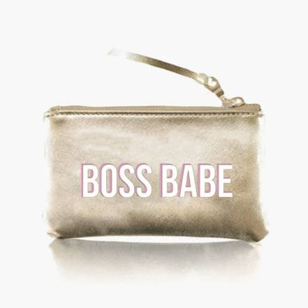 Boss Babe Pouch- Gold