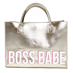 Boss Babe Tote- Gold