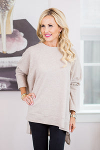 Elise Top Thermal- Taupe
