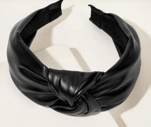 Faux leather Headband- Black