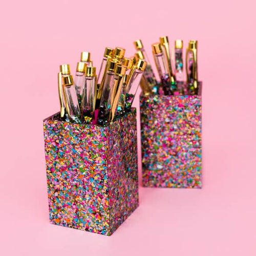 Confetti Acrylic Pencil Cup