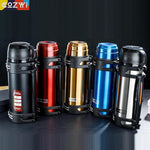1.2l/1.5l/2l Travel Thermosflask Thermos Water Coffee Bottle Stainless Steel Coffee Cup Mug Heat Cold Preservation