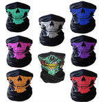 Motorcycle SKULL Ghost Face Windproof Mask Beanie Hat Outdoor Sports Warm Ski Mask Caps Bicyle Bike Balaclavas Bonnet Halloween