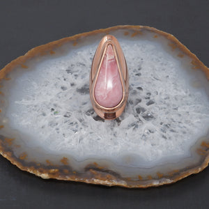 House of Tenebris Rhodochrosite and Copper Hand Fabricated Ring