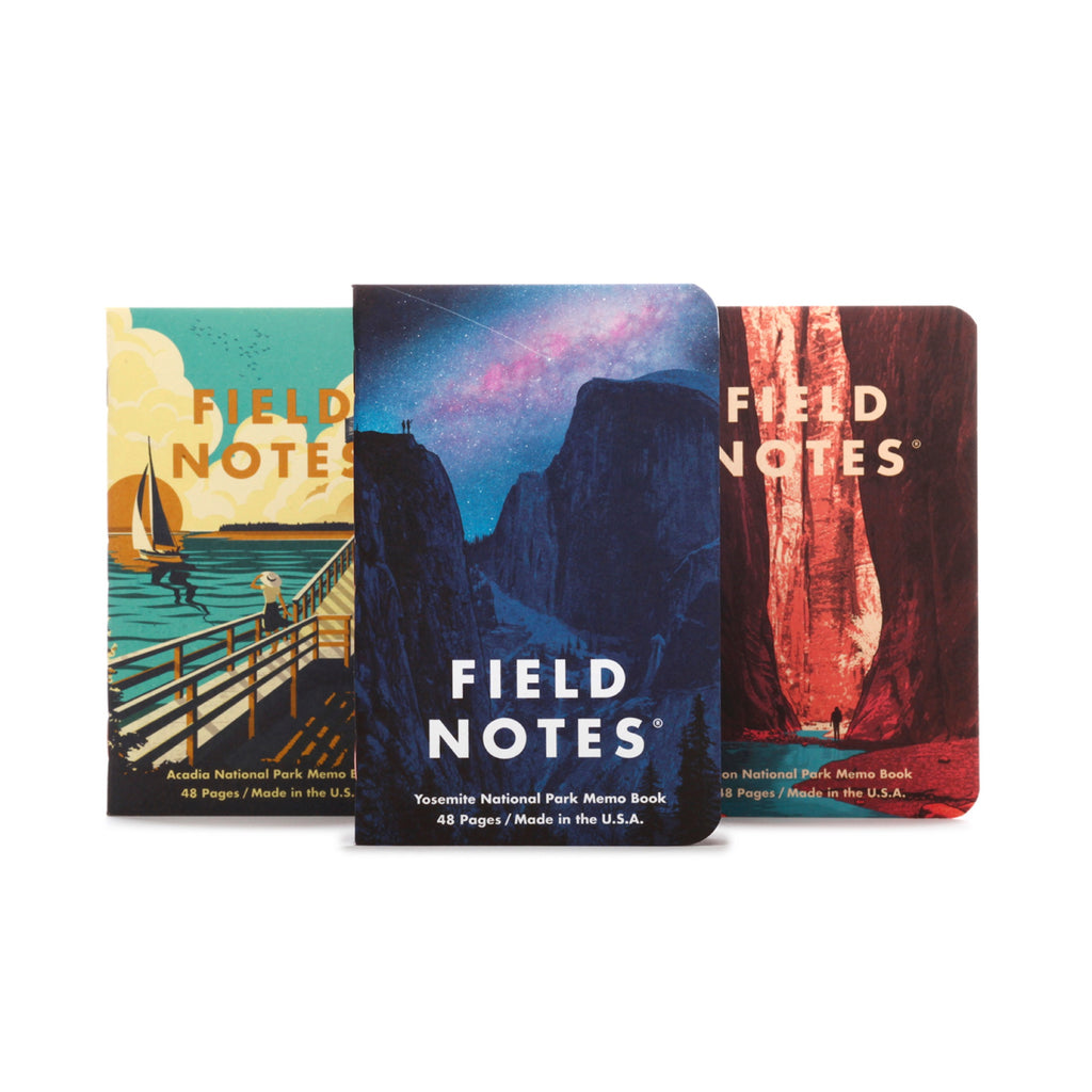 National Parks Field Notes Series A 3-Pack