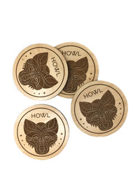 Howl Wolf Coasters