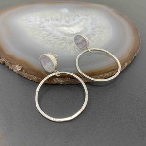 Young In The Mountains : Sowbelly Agate Frida Hoops