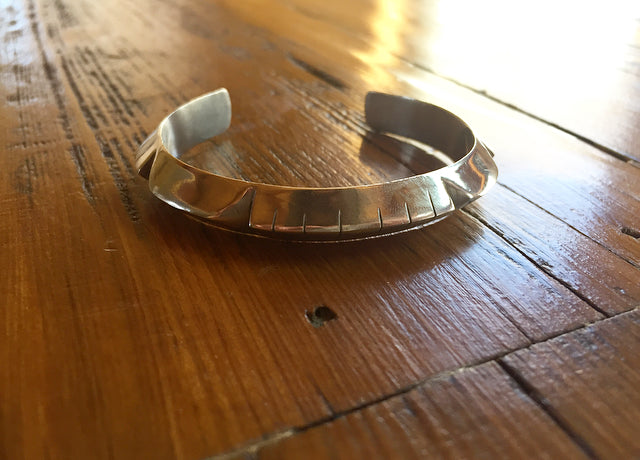 Young In The Mountains : Large Silver Helena Cuff