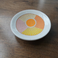 Jen E Orange Beams Ring Dish