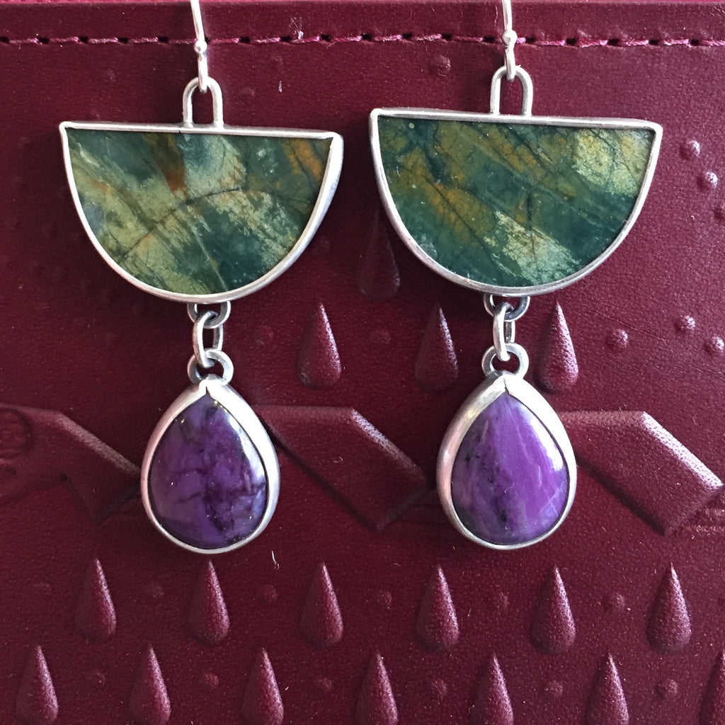 Chela Gurnee Rhyolite & Sugilite Earrings