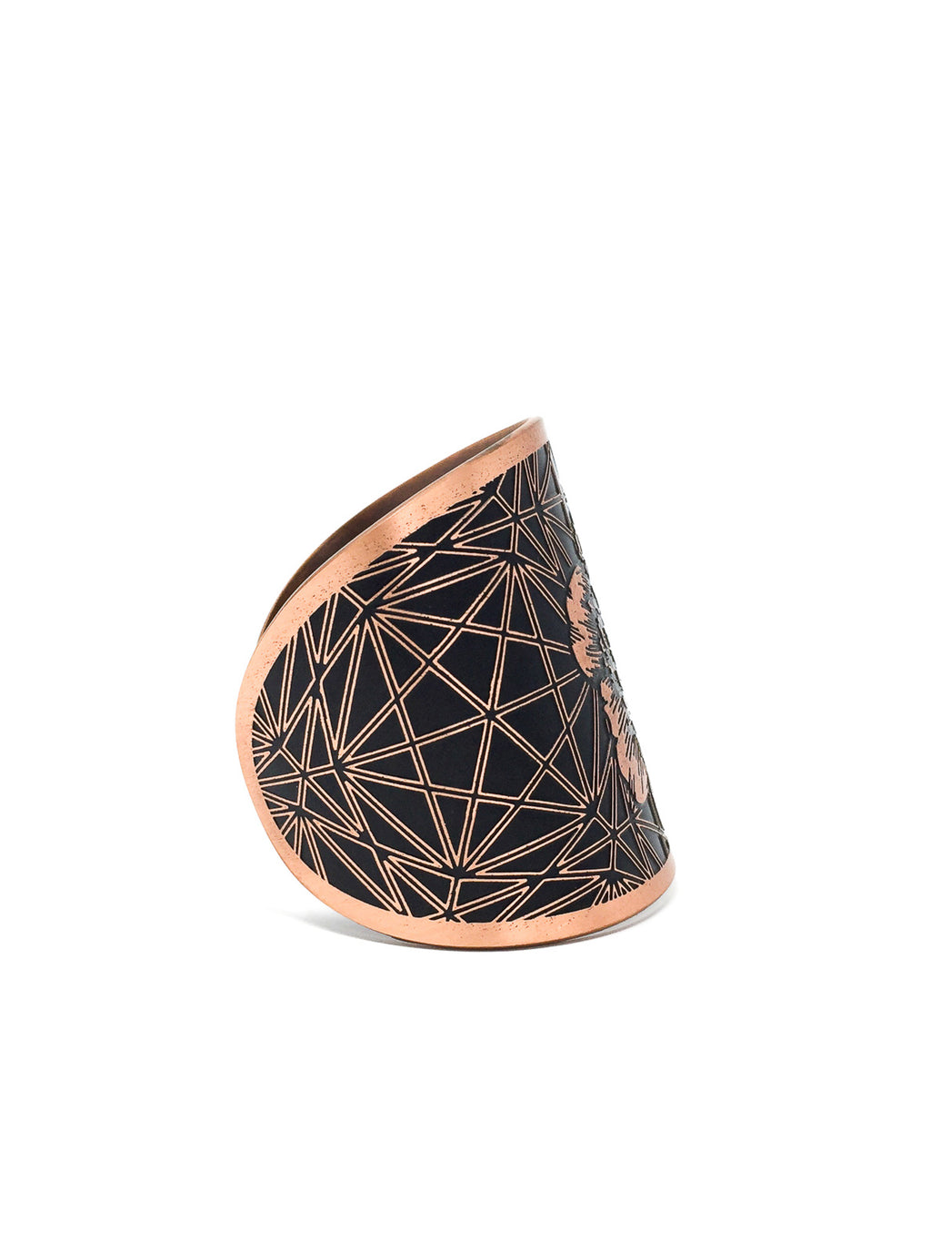 "House of Tenebris ""Peony Flower of Life"" Cuff"