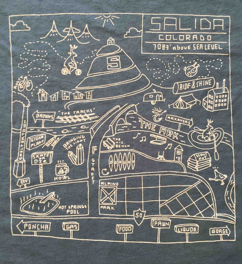 Howl + Type Garage Salida Map Tee
