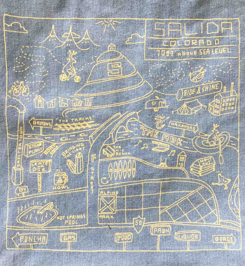 Howl + Type Garage Salida Map Tote