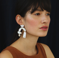 Wolf & Moon : Cassia Earrings in Mother of Pearl