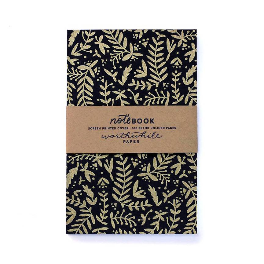 "Worthwhile ""Gold Nature Shapes"" Notebook"