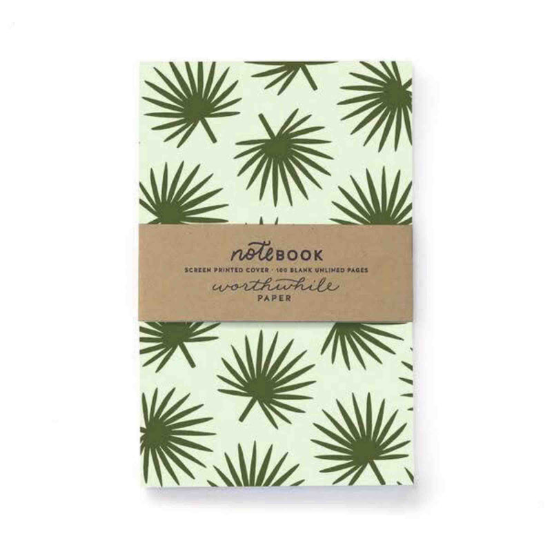 "Worthwhile ""Tropical Leaf Pattern"" Notebook"