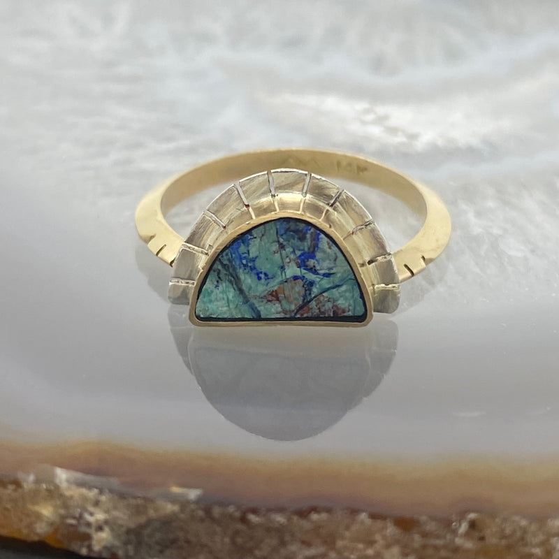 Young in the Mountains : Azurite Selene Ring
