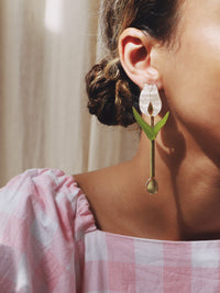 Wolf & Moon : Tulip Drop Earrings