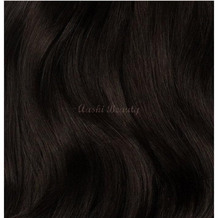 Espresso Brown Tape In Hair Extensions #1C (Double Drawn Thick) - Aashi Beauty