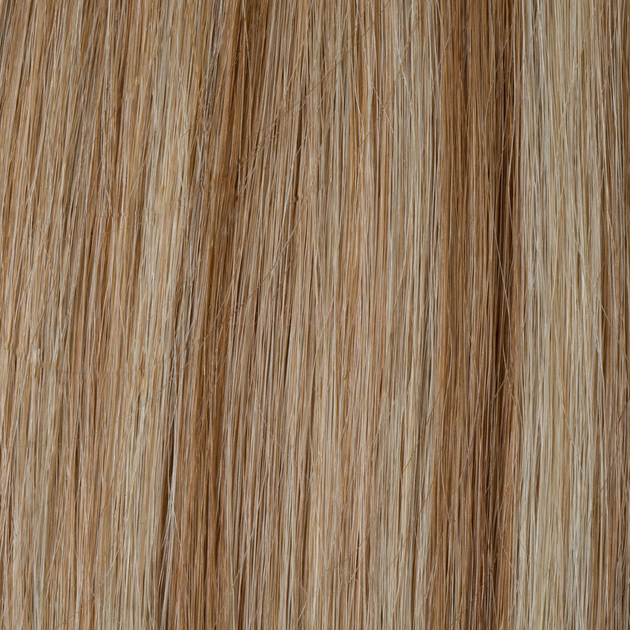 Mix of Honey Blonde (12) to Ash Blonde (60) Tape-in (Naturally Drawn, Thin) - Aashi Beauty