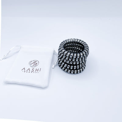 Spiral Hair Ties (medium size) x 5 - Aashi Beauty