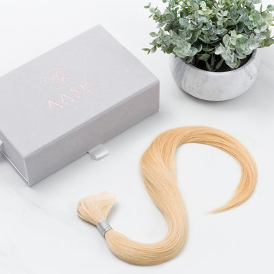 Golden Blonde (#24) Tape-In - Natural Drawn (thin) - Aashi Beauty