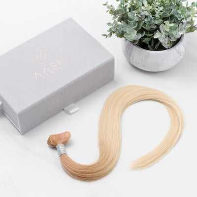 Ombre Honey Blonde (12) to Ash Blonde (60) Tape-in (Double Drawn Thick) - Aashi Beauty