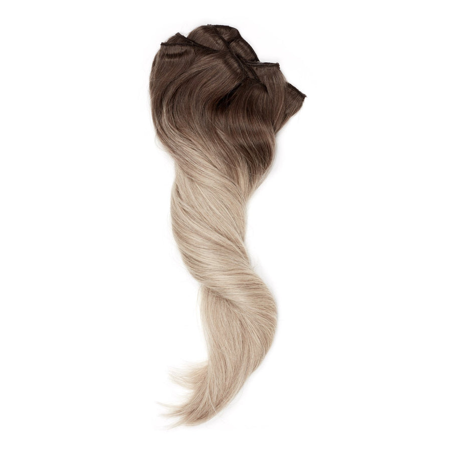 "Balayage Blend Brown to Grey/Blonde 20""210grams - Aashi Beauty"