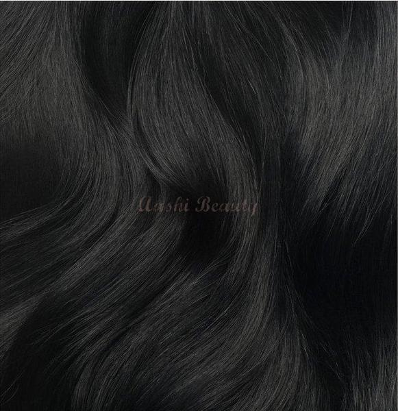 Jet Black Tape In Hair Extensions #1 (Double Drawn Thick) - Aashi Beauty