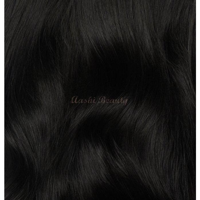 Natural Black Tape In Hair Extensions #1B (Double Drawn Thick) - Aashi Beauty