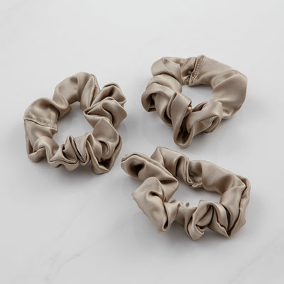 100% Pure Silk 3 Packs Scrunchies - Aashi Beauty