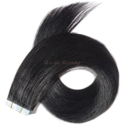 Jet Black Tape In Hair Extensions #1 - Aashi Beauty