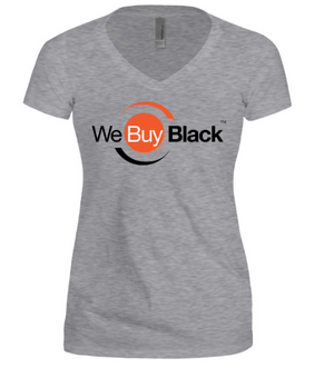Women's Short Sleeve V-Neck - Grey