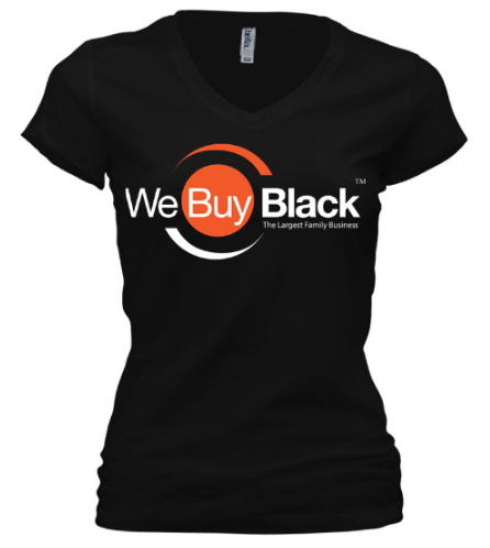 Women's Short Sleeve V-Neck - Black