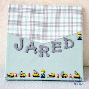Jared Fabric Wrapped Sign