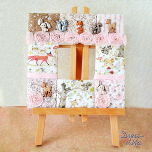 Pink Forest Creatures Frame
