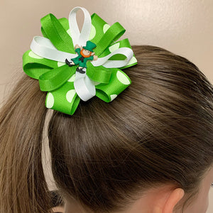 Pot O' Gold St. Patty's Day Hair Bows