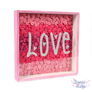 Pink Love Framed Art