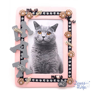 Meow Cat Picture Frame