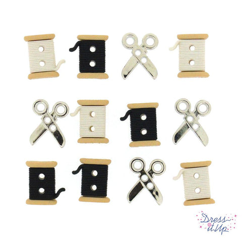 SEW CUTE SPOOLS/SCISSORS
