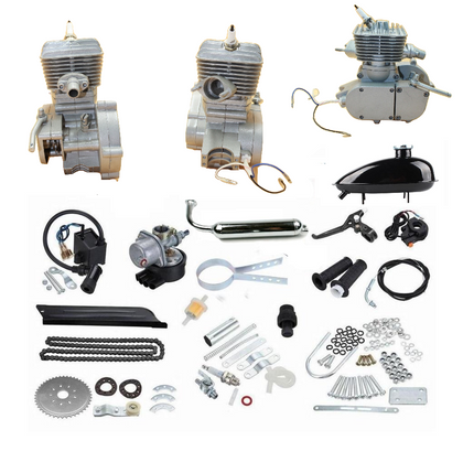 ZB 100cc Bike Engine Kit (Silver) + FREE Sleeveless Shirt - ZoomBicycles
