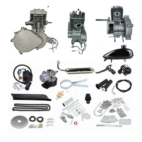 ZB 49cc Bike Engine Kit (Silver) + FREE SLEEVELESS SHIRT - ZoomBicycles
