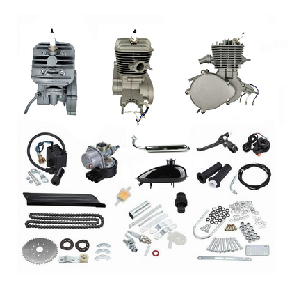 ZB 66cc/80cc Bike Engine Kit (Silver) + FREE Sleeveless Shirt - ZoomBicycles
