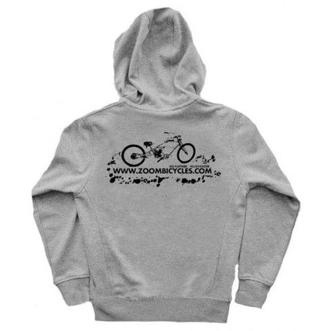ZoomBicycles Grey Cotton Hoodie (Medium)